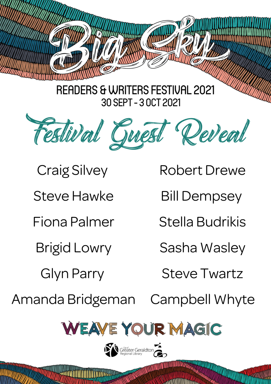 Big Sky Readers and Writers Festival 2021 list of guests