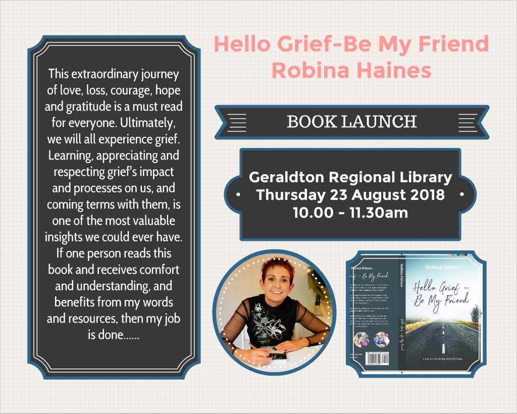 Book Launch - Hello Grief, Be My Friend