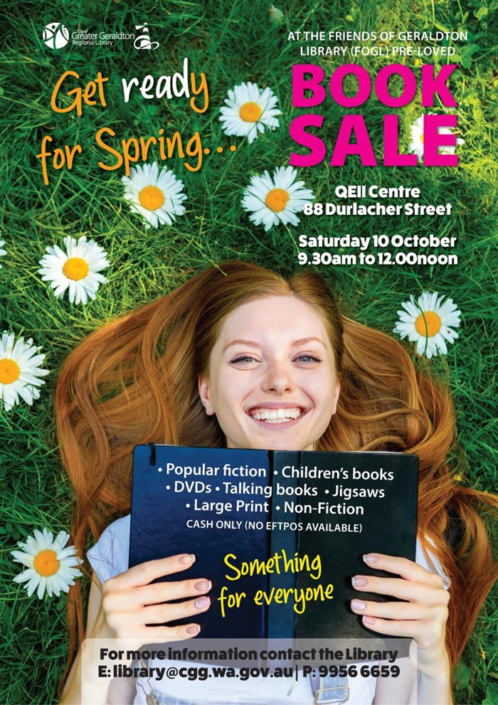 Friends of the Geraldton Library (FOGL) Book Sale - QEII