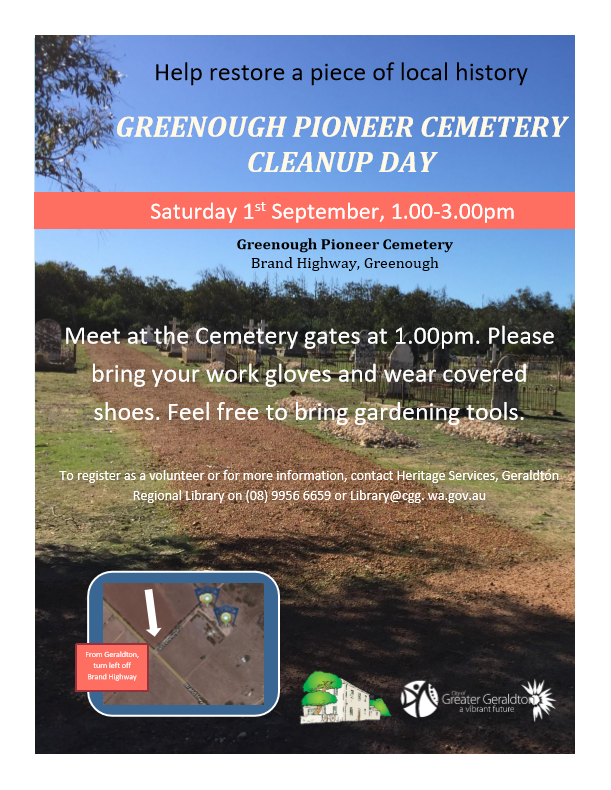 Greenough Pioneer Cemetery Clean Up Day